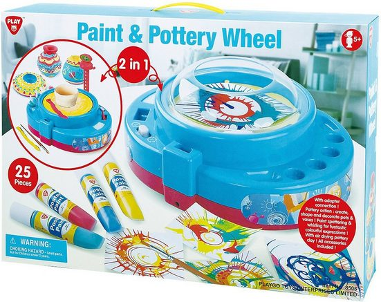 Playgo Topf-Set »Paint & Pottery Wheel 2in1«