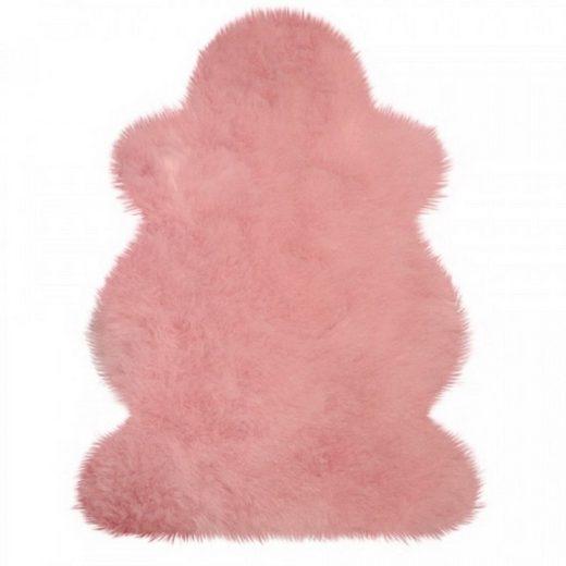 Fellteppich »Lammfell pflanzlich gefärbt rosa«, Mein Style, Höhe 50 mm