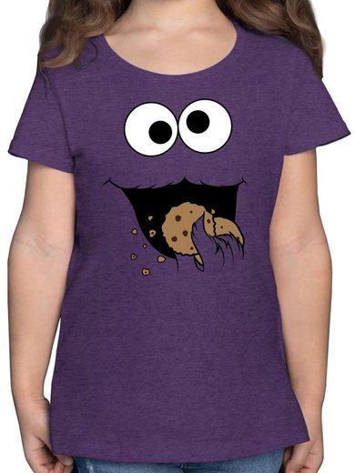Shirtracer T-Shirt »Keks-Monster - Mädchen Kinder T-Shirt«