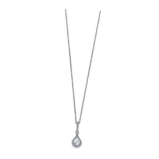 LOTUS SILVER Silberkette »JLP1592-1-1 LOTUS Silver Tropfen Halskette weiß« (Halsketten), Damen Kette Tropfen aus 925 Sterling Silber, weiß, silber