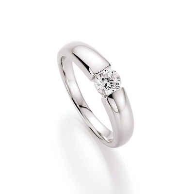 Smart Jewel Verlobungsring »glamouröse Optik mit Zirkonia, Silber 925«