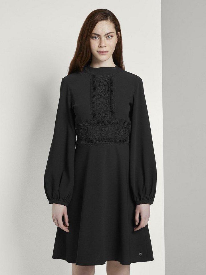 Festtagsmode - TOM TAILOR Denim Spitzenkleid »Kleid mit Spitzen Details« ›  - Onlineshop OTTO