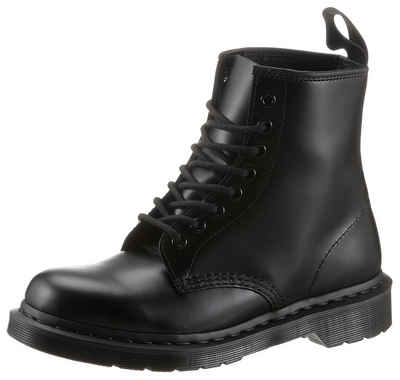 DR. MARTENS »1460 Mono Smooth 8 Eye Boot« Schnürboots mit dunkler Laufsohle