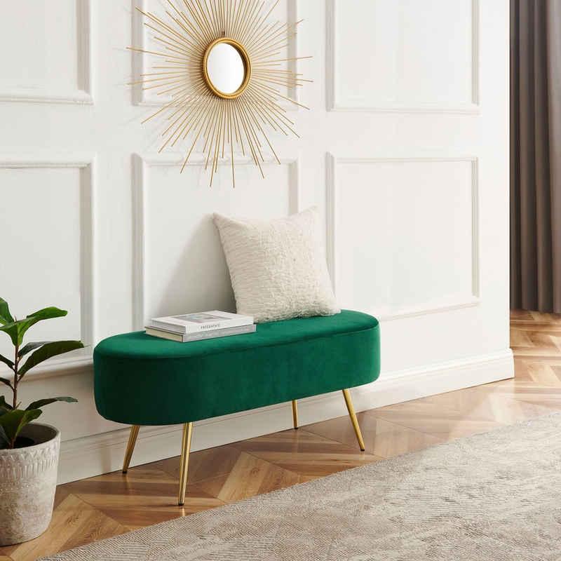 Leonique Bettbank »Zirkon«, Polsterbank in 3 Farben und Breiten erhältlich, auch als Garderobenbank geeignet