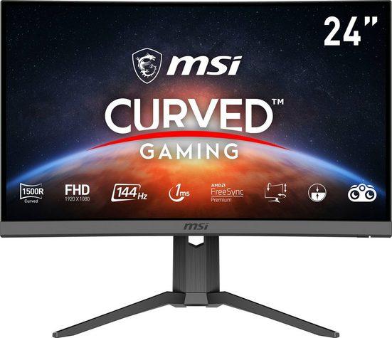 "MSI Optix G24C6P Curved-Gaming-Monitor (60 cm/23,6 "", 1920 x 1080 Pixel, Full HD, 1 ms Reaktionszeit, 144 Hz, VA LED, 3 Jahre Herstellergarantie)"