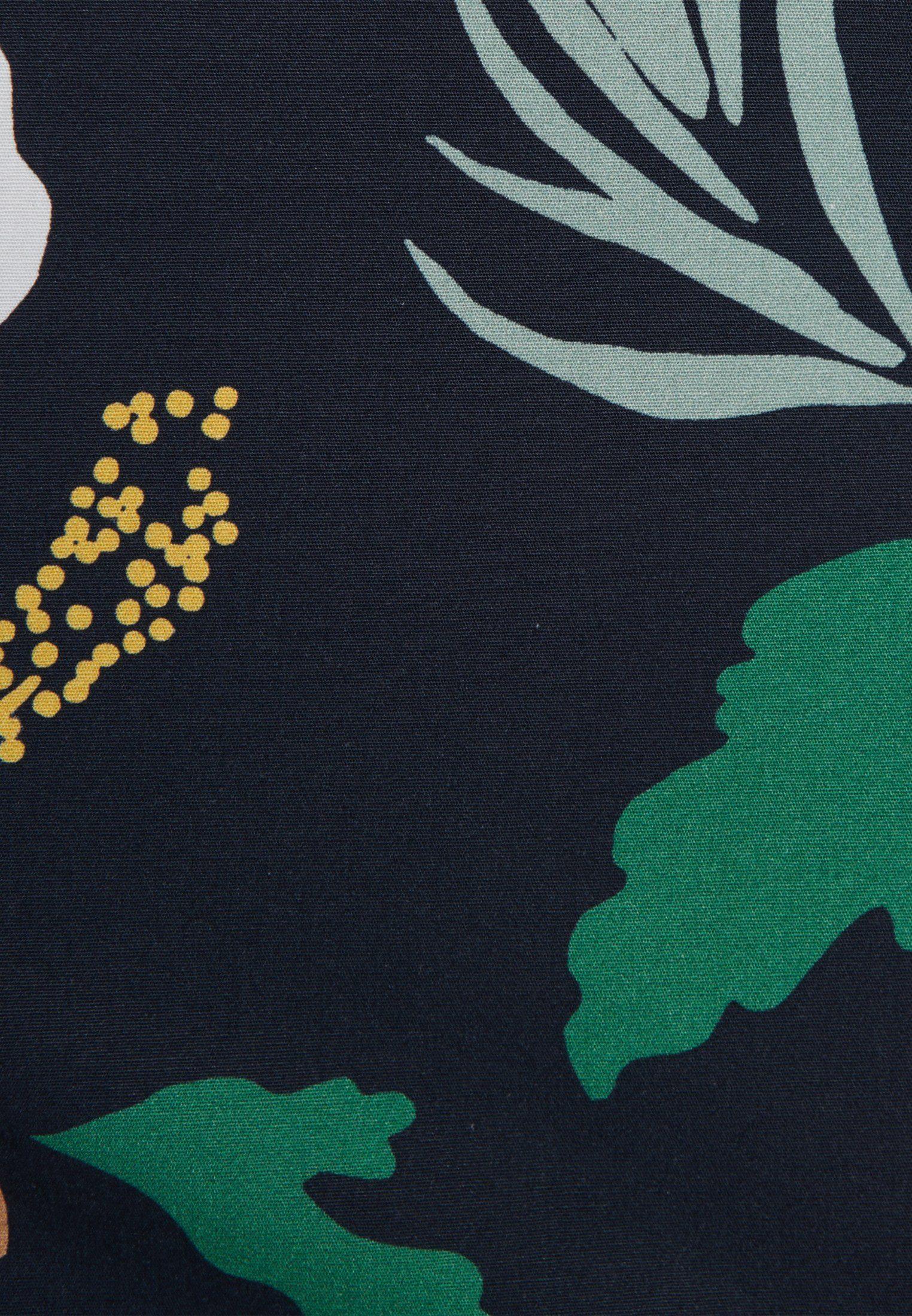 seidensticker Hemdbluse Schwarze Rose Kurzarm Kragen Uni