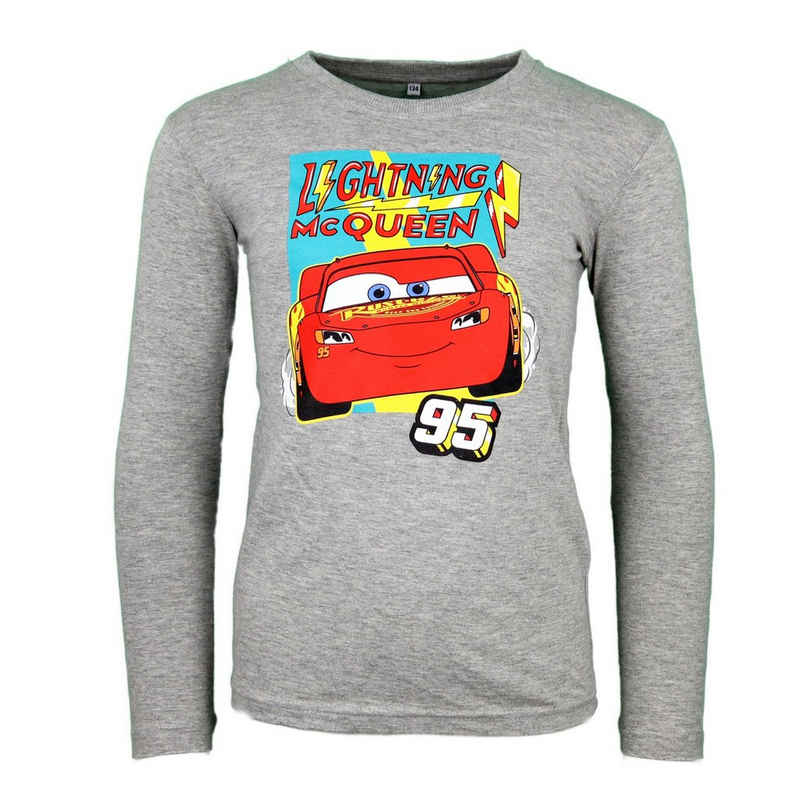 Disney Cars Langarmshirt »Lightning McQueen Kinder Shirt« Gr. 104 bis 134, in Grau