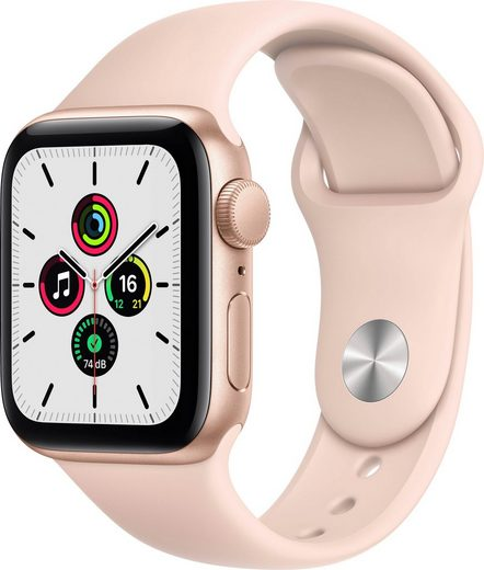 Apple SE GPS, Aluminiumgehäuse mit Sportarmband 40mm Watch, inkl. Ladestation (magnetisches Ladekabel)