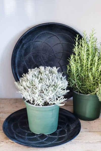 Cosy Home Ideas Dekoschale »Dekoschale rund schwarz Holz 39 cm« (1 Stück, 1x Dekoteller), mit orientalischen Linien Muster