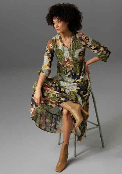 Aniston CASUAL Maxikleid mit Blumen- oder Patchdruck - du hast die Wahl - NEUE KOLLEKTION