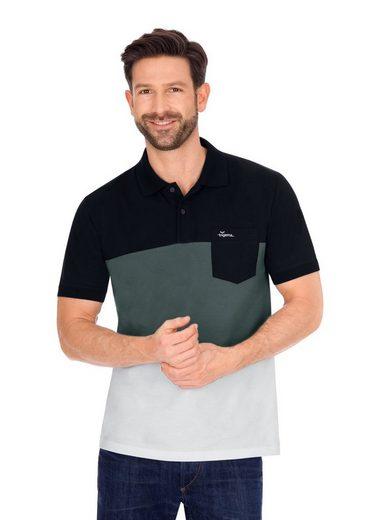 Trigema Poloshirt, dreifarbig, aus Biobaumwolle