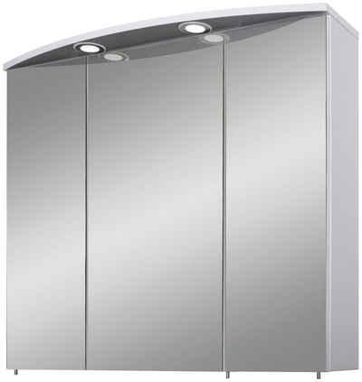 Schildmeyer Spiegelschrank »Verona« Breite 70 cm, 3-türig, 2 LED-Einbaustrahler, Schalter-/Steckdosenbox, Glaseinlegeböden, Made in Germany