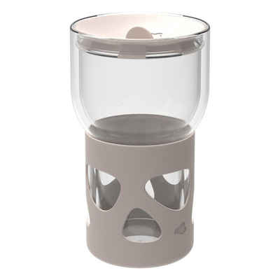 LEONARDO Coffee-to-go-Becher »IN GIRO Beige 350 ml«, Glas