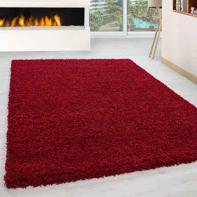 Hochflor-Teppich »Langflor Shaggy Uni Einfarbig Wohnzimmer«, Giancasa