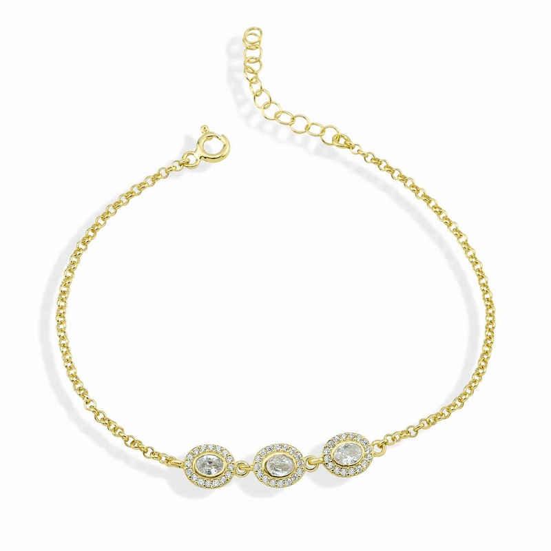 dKeniz Armband »925/- Sterling Silber vergoldet Pure Elegance«