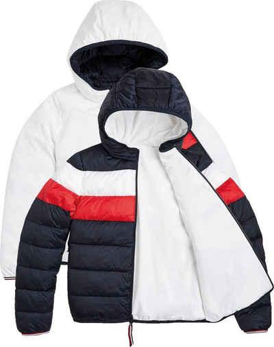 Tommy Hilfiger Steppjacke »Reversible Padded RWB Jacket« im Gesteppt- und Glatt-Design, eine Jacke zwei Looks & Farben