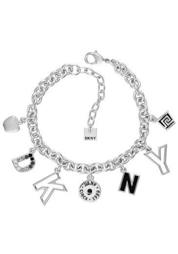 DKNY Armband »DKNY Charm BR (RH), 5520046«, mit Swarovski® Kristallen und Emaille