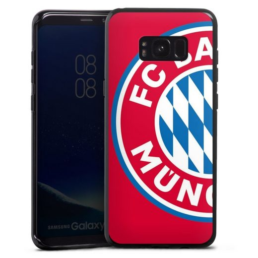 DeinDesign Handyhülle »großes FCB Logo Rot« Samsung Galaxy S8 Plus, Hülle FC Bayern München Offizielles Lizenzprodukt FCB