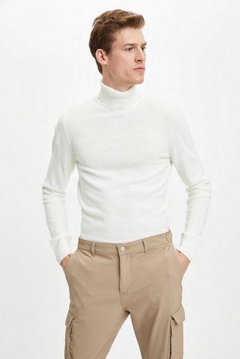 DeFacto Rollkragenpullover »Herren Pullover SLIM FIT MOCK NECK«