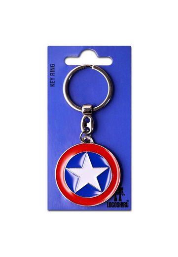 LOGOSHIRT Schlüsselanhänger, mit Captain America Stern