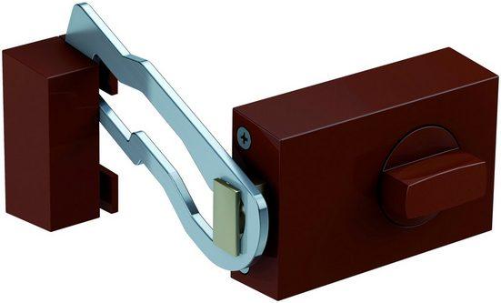 BASI Kastenriegelschloss »KS 500«, Din Rechts und Din Links, Dornmaß 60 mm - braun (eckig), Sperrbügel