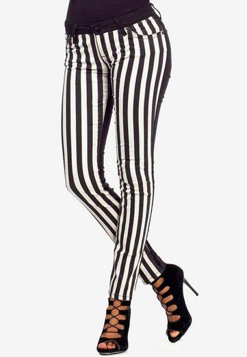 Cipo & Baxx Slim-fit-Jeans im extravaganten Streifenmuster in Skinny Fit