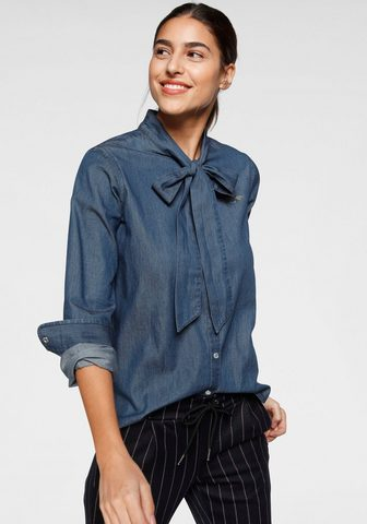 TOM TAILOR Polo Team Jeansbluse su Schleife zum Binden