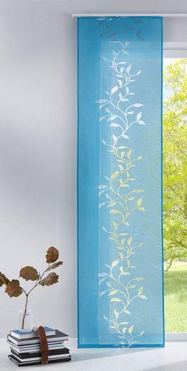 Schiebegardine, Gardinenbox, Paneelwagen (1 Stück), Flächenvorhang Ausbrenner-Stoff Lasercut inkl. Paneelwagen 856100