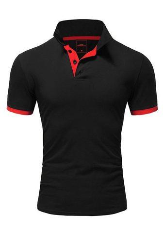 behype Polo marškinėliai »BASE« su kontrastfa...
