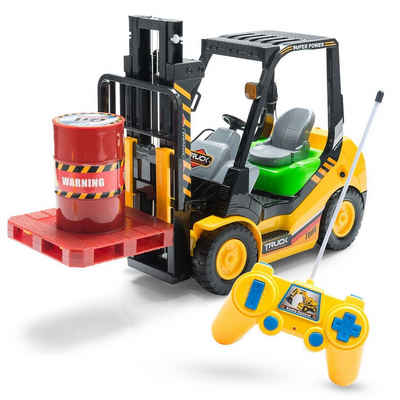 Goods+Gadgets RC-Gabelstapler »Ferngesteuerter Stapler« (Modellbau, 2,4 GHZ), Hoch-Hubwagen Funk Spielzeug