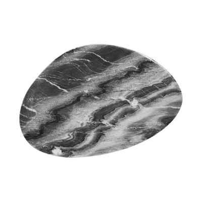 BUTLERS Platzteller MARBLE Marmorplatte organische Form L 30 x B 20cm