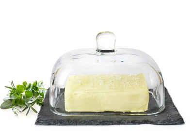 Sendez Butterdose »Butterdose auf Schieferplatte Butterglocke Butterschale Kühlschrankbutterdose«