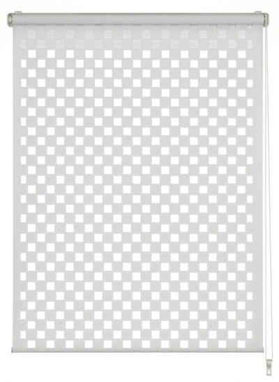 Doppelrollo »EASYFIX Duo Rollo Cut-Out Quadrat«, GARDINIA, Lichtschutz, ohne Bohren, im Fixmaß