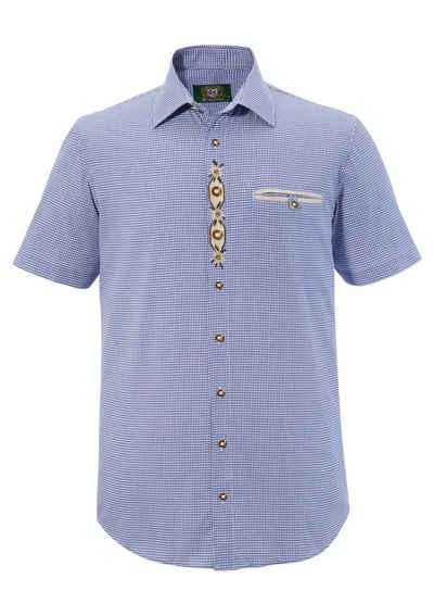OS-Trachten Trachtenhemd mit Edelweiß- Stickerei