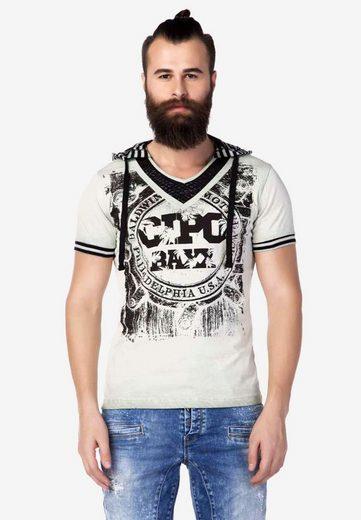 Cipo & Baxx Kapuzensweatshirt mit kuscheliger Kapuze