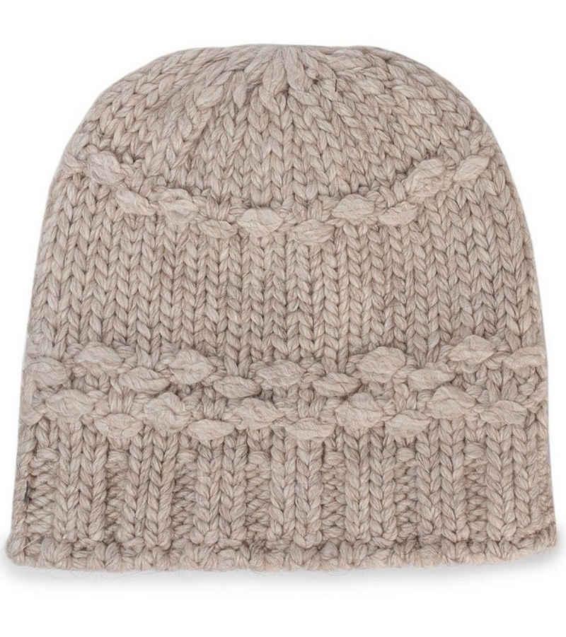 Salomon Strickmütze »Salomon Diamond Beanie super weiche Damen Strick-Mütze mit Alpaka-Wolle Winter-Mütze Beige«