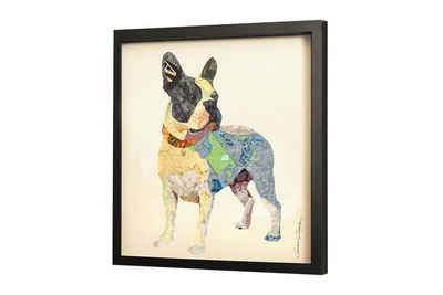 KUNSTLOFT Bilder-Collage »Terrier on Tour«, trendiges Frame Art 3D Bild