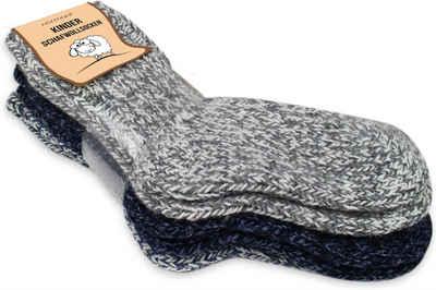 normani Basicsocken »3 Paar Kinder Norwegersocken mit Schafwolle« (3 Paar) nicht filzend