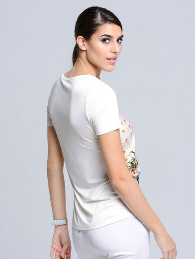 Alba Moda T-Shirt mit floralem Print im Vorderteil