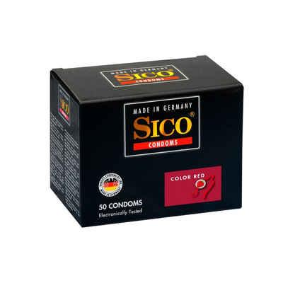 SICO Kondome »Color Red, 50er Box«, 1 St.