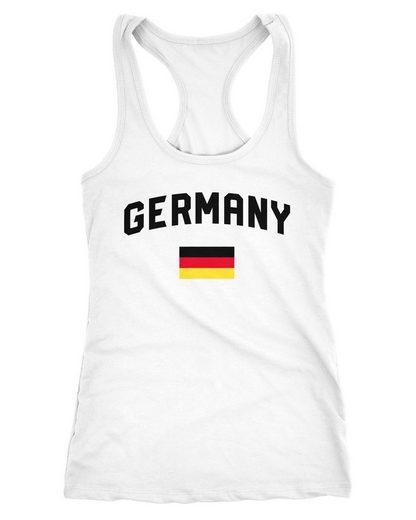 MoonWorks Tanktop »Damen Deutschland Tanktop Fußball WM Weltmeisterschaft 2018 World Cup Fan-Shirt Germany Moonworks®«