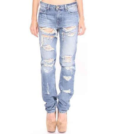 Diesel Regular-fit-Jeans »Diesel Slim-Straight Jeans bequeme Denim-Hose für Frauen im Destroyed-Look Arbeits-Hose Blau«