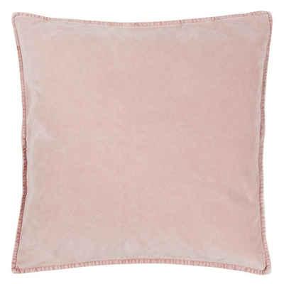 Ib Laursen Kissenbezug »Ib Laursen - Kissenbezug Rosa 52x52cm Samt Velour (6230-43) Kissenhülle«