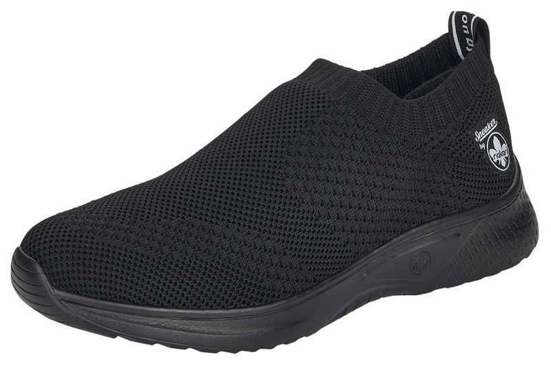 Rieker Slip-On Sneaker in Strick-Optik