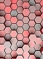 Idealdecor Fototapete »3D Pentagons Rot«, grafisch, (2 St), BlueBack, 2 Bahnen, 183 x 254 cm, Bild 3