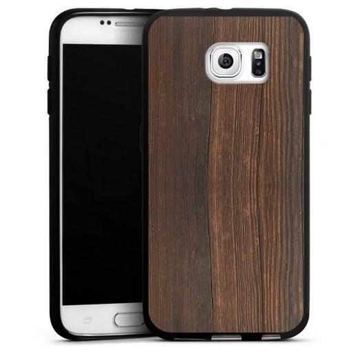 DeinDesign Handyhülle »Nußbaum Holzlook« Samsung Galaxy S6, Hülle Nussbaum Holzoptik Holz