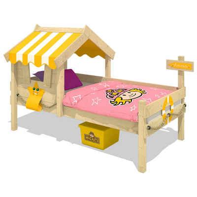 Wickey Kinderbett »Hausbett Crazy Sunny, Plane Holzbett 90 x 200 cm«