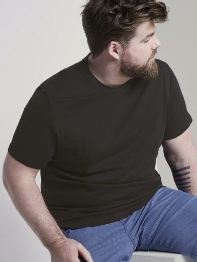 TOM TAILOR Men Plus T-Shirt »Doppelpack Basic T-Shirts«