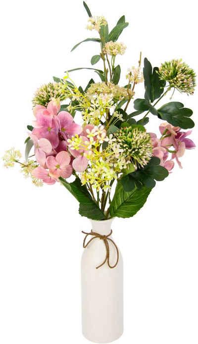 Kunstblume »Mixed-Blumenstrauß«, I.GE.A., Höhe 53 cm, Keramikvase