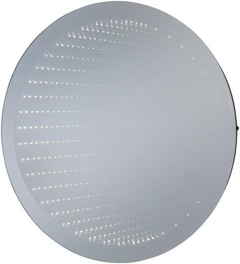 LED-Lichtspiegel »Barcelona rund«, mit Infinity-Effekt